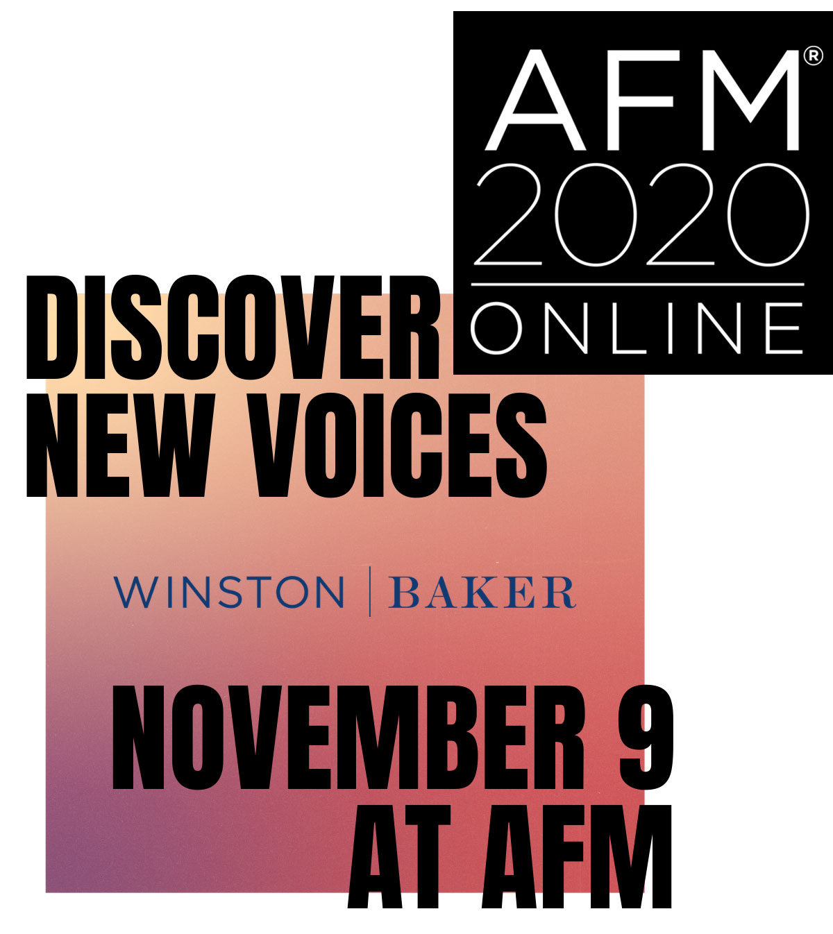 Discover New Voices – November 9 at AFM